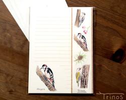 野鳥のレターセット C set (八ヶ岳の小鳥たち・キツツキ)