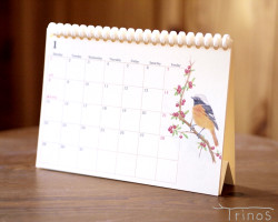 野鳥のカレンダー 2018(卓上版)