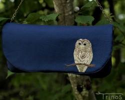 フクロウの2wayスリム・クラッチバッグ